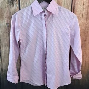 NWOT X-Small BANANA REPUBLIC L/S Pink button down